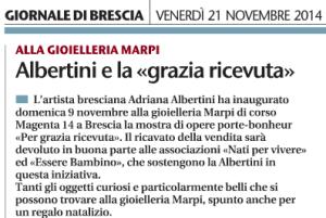 Giornale di Brescia 21/11/2014