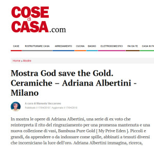 Cose di casa God save the Gold